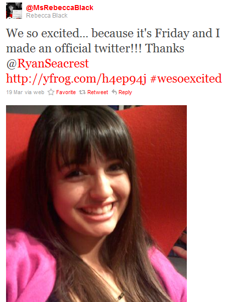 ryan seacrest rebecca black. Rebecca Black is now on