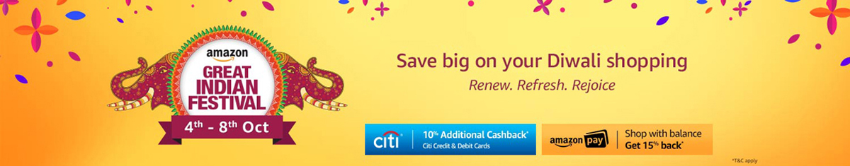 Amazon Great Indian Festival Sale - (4th - 8th October)
