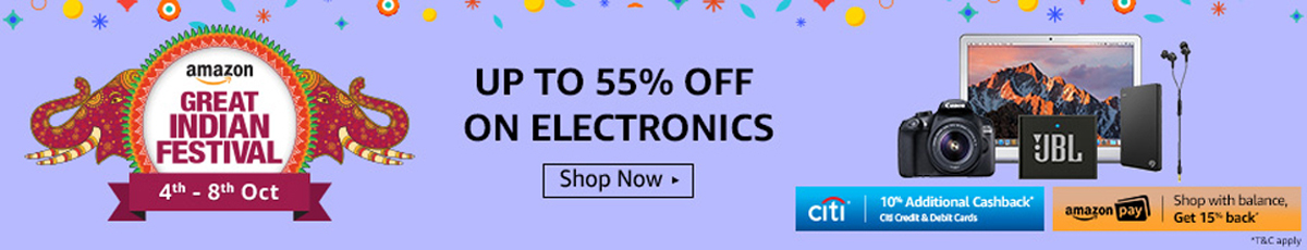 Amazon Great Indian Festival Sale - Electronics Store