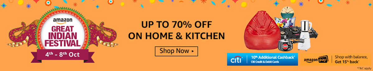 Amazon Great Indian Festival Sale - Home and Kitchen