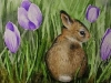 Bunny with Crocus